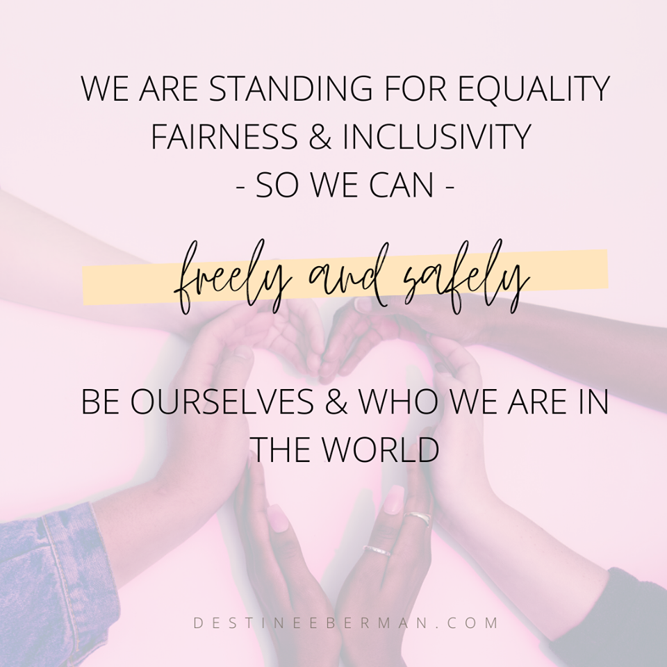 Graphic, standing for equality, created on Canva